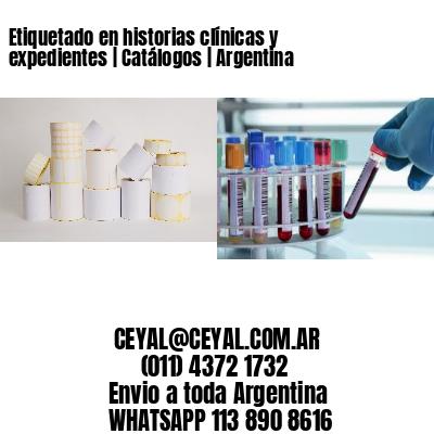 Etiquetado en historias clínicas y expedientes | Catálogos | Argentina