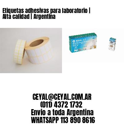 Etiquetas adhesivas para laboratorio   Alta calidad   Argentina
