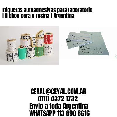 Etiquetas autoadhesivas para laboratorio | Ribbon cera y resina | Argentina