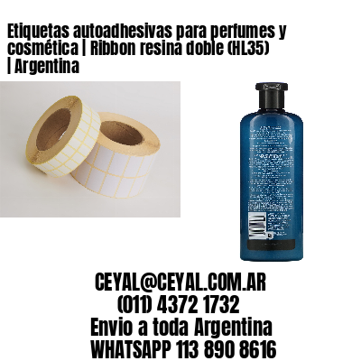 Etiquetas autoadhesivas para perfumes y cosmética   Ribbon resina doble (HL35)   Argentina