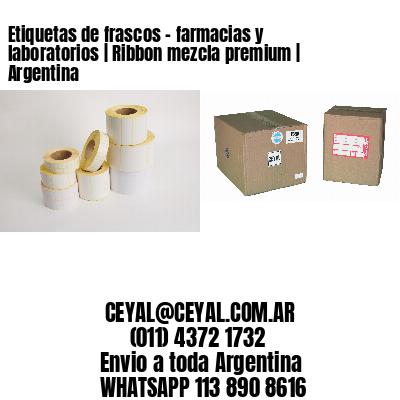 Etiquetas de frascos - farmacias y laboratorios | Ribbon mezcla premium | Argentina