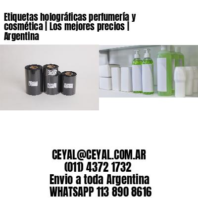 Etiquetas holográficas perfumería y cosmética | Los mejores precios | Argentina