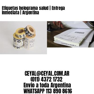 Etiquetas holograma salud | Entrega inmediata | Argentina