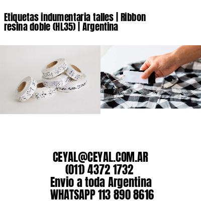 Etiquetas indumentaria talles   Ribbon resina doble (HL35)   Argentina