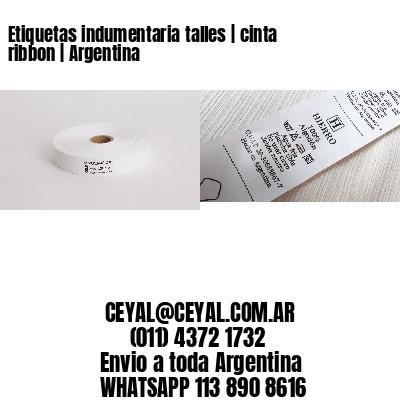 Etiquetas indumentaria talles   cinta ribbon   Argentina