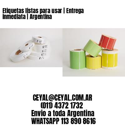 Etiquetas listas para usar   Entrega inmediata   Argentina