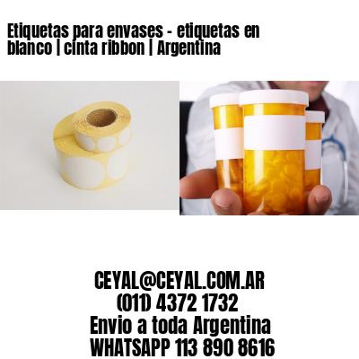 Etiquetas para envases - etiquetas en blanco | cinta ribbon | Argentina