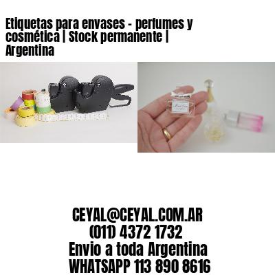 Etiquetas para envases - perfumes y cosmética   Stock permanente   Argentina