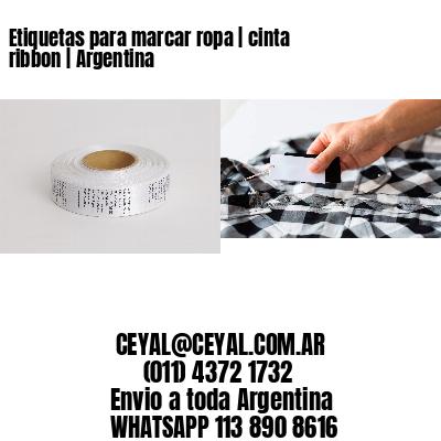 Etiquetas para marcar ropa   cinta ribbon   Argentina