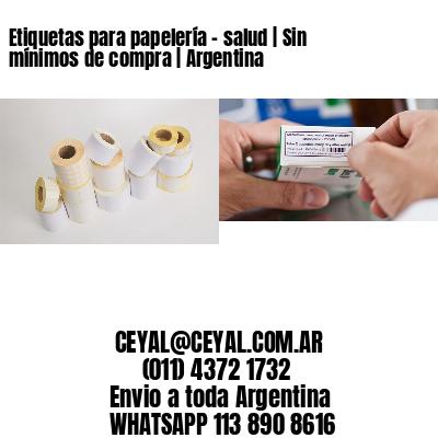 Etiquetas para papelería - salud | Sin mínimos de compra | Argentina