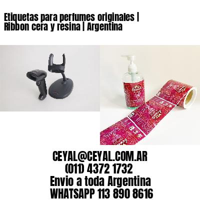 Etiquetas para perfumes originales   Ribbon cera y resina   Argentina