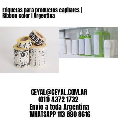 Etiquetas para productos capilares   Ribbon color   Argentina