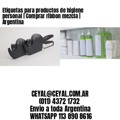 Etiquetas para productos de higiene personal | Comprar ribbon mezcla | Argentina