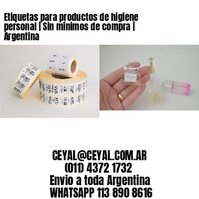 Etiquetas para productos de higiene personal   Sin mínimos de compra   Argentina