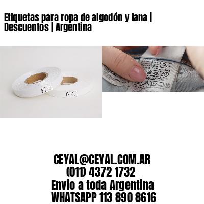 Etiquetas para ropa de algodón y lana   Descuentos   Argentina