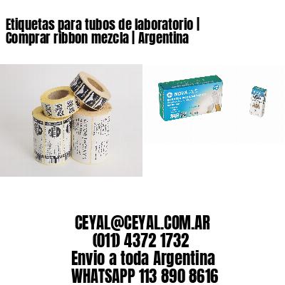 Etiquetas para tubos de laboratorio | Comprar ribbon mezcla | Argentina
