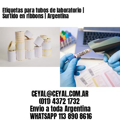 Etiquetas para tubos de laboratorio | Surtido en ribbons | Argentina