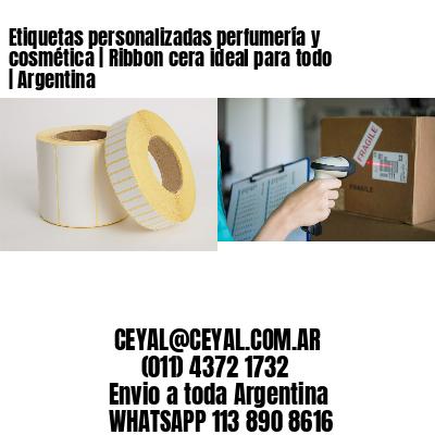 Etiquetas personalizadas perfumería y cosmética   Ribbon cera ideal para todo   Argentina