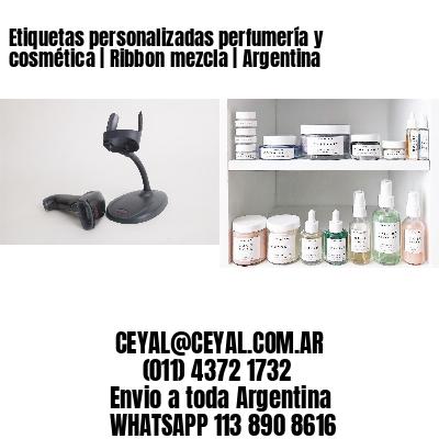 Etiquetas personalizadas perfumería y cosmética   Ribbon mezcla   Argentina