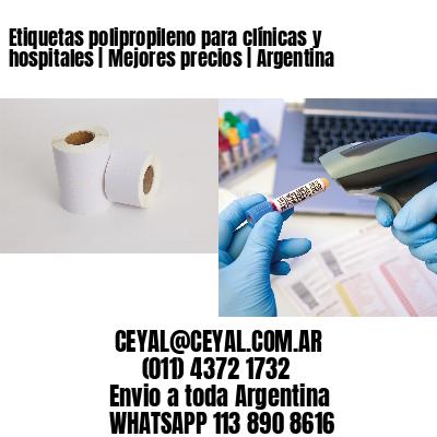 Etiquetas polipropileno para clínicas y hospitales   Mejores precios   Argentina