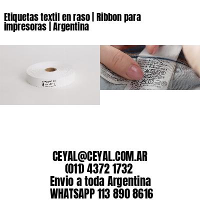 Etiquetas textil en raso | Ribbon para impresoras | Argentina