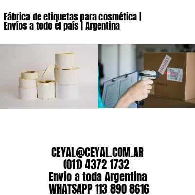 Fábrica de etiquetas para cosmética   Envíos a todo el país   Argentina