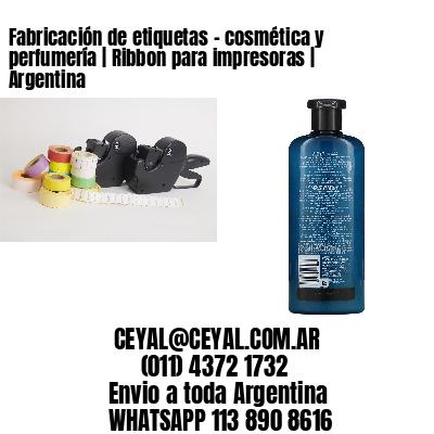 Fabricación de etiquetas - cosmética y perfumería | Ribbon para impresoras | Argentina