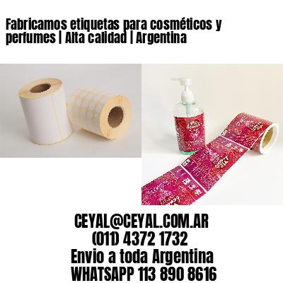 Fabricamos etiquetas para cosméticos y perfumes   Alta calidad   Argentina