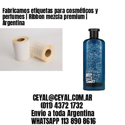 Fabricamos etiquetas para cosméticos y perfumes | Ribbon mezcla premium | Argentina