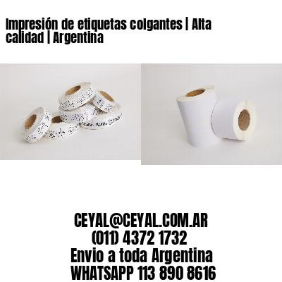 Impresión de etiquetas colgantes   Alta calidad   Argentina