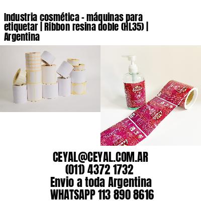 Industria cosmética - máquinas para etiquetar | Ribbon resina doble (HL35) | Argentina