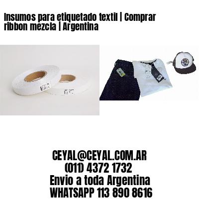 Insumos para etiquetado textil   Comprar ribbon mezcla   Argentina