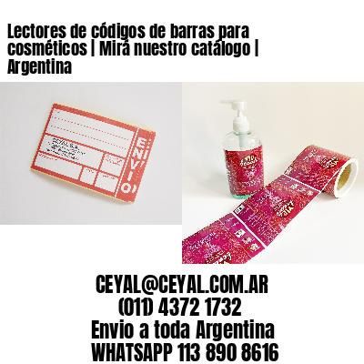 Lectores de códigos de barras para cosméticos   Mirá nuestro catálogo   Argentina