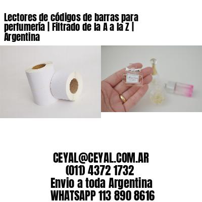 Lectores de códigos de barras para perfumería   Filtrado de la A a la Z   Argentina