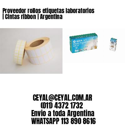 Proveedor rollos etiquetas laboratorios | Cintas ribbon | Argentina
