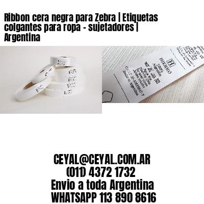 Ribbon cera negra para Zebra   Etiquetas colgantes para ropa - sujetadores   Argentina