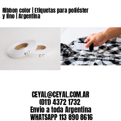 Ribbon color   Etiquetas para poliéster y lino   Argentina