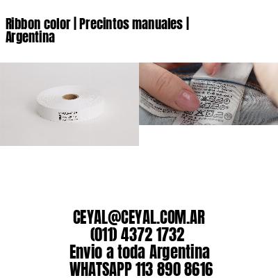 Ribbon color   Precintos manuales   Argentina