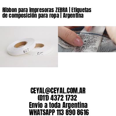 Ribbon para impresoras ZEBRA   Etiquetas de composición para ropa   Argentina