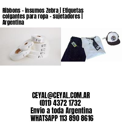 Ribbons - insumos Zebra   Etiquetas colgantes para ropa - sujetadores   Argentina