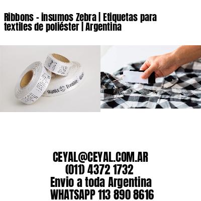 Ribbons - insumos Zebra   Etiquetas para textiles de poliéster   Argentina