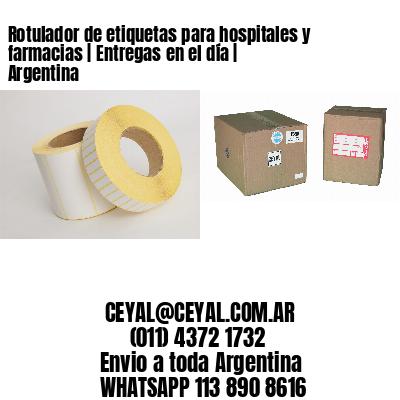 Rotulador de etiquetas para hospitales y farmacias   Entregas en el día   Argentina