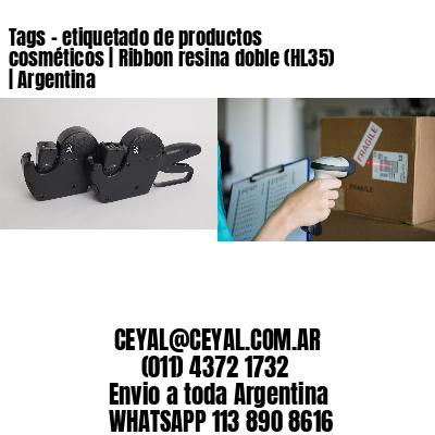 Tags - etiquetado de productos cosméticos   Ribbon resina doble (HL35)   Argentina